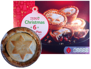 Tesco box and pie - medium